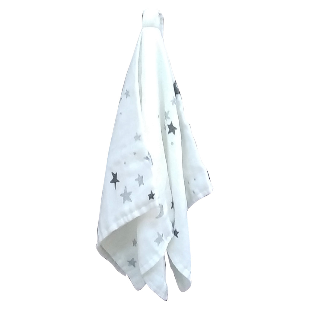 Bamboo Muslin Dummy/Toy Blanket - White