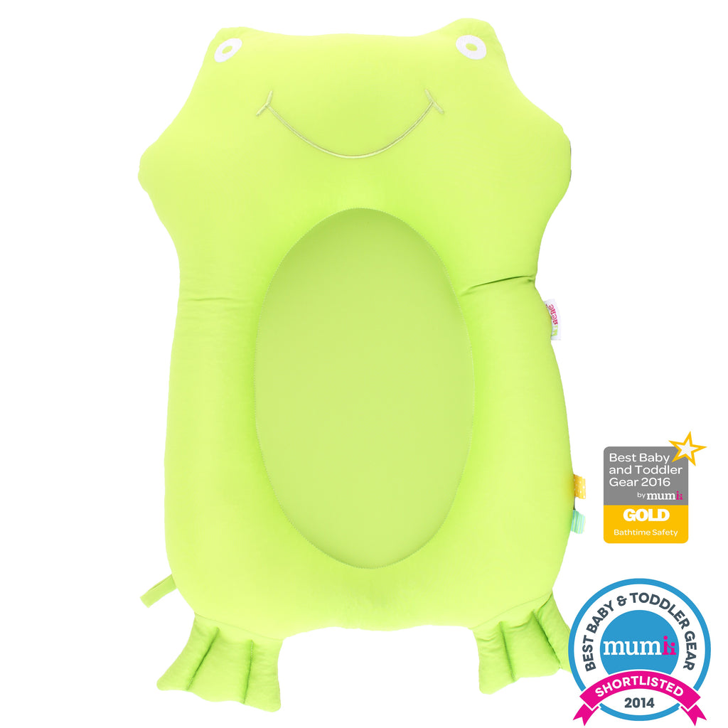 Green frog bath buddy