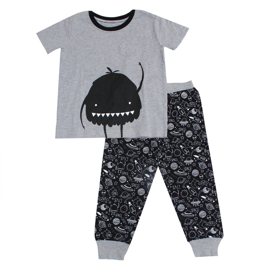 Boy's Pyjamas - Grey & Black Space