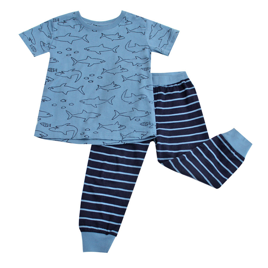 Boy's Pyjamas - Blue Sharks - 3y-8y