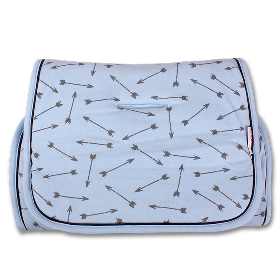 baby blue arrow pushchair liner
