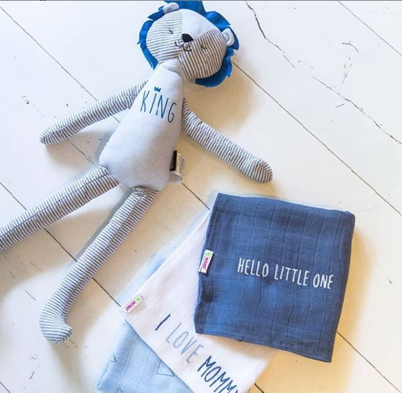 Blue and Grey Lion doll long legs