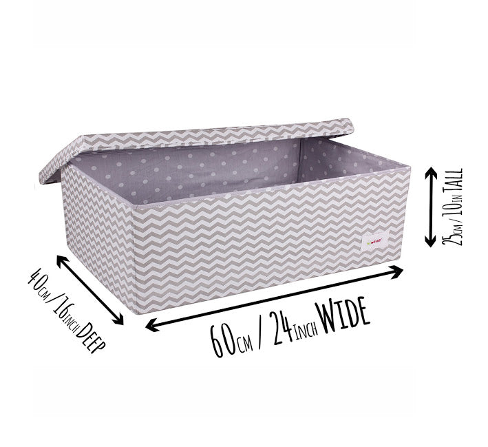 Large Multi Use Storage Box - Grey Chevron