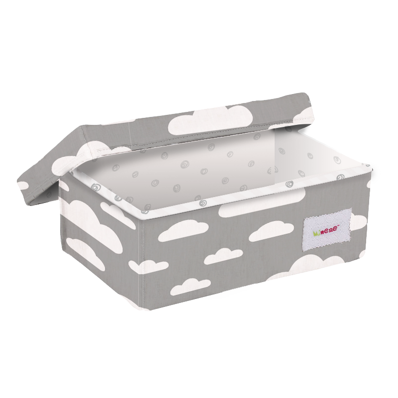 small box grey and white cloud box