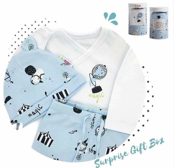 3 Piece Newborn clothing Gift set in Blue