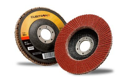 3M™ Cubitron™ II Flap Disc 967A125mm x 22.2mm x 80+ - Pack Of 10