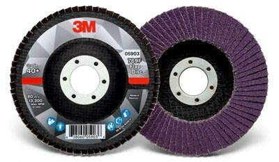 3M™ Flap Disc 769F 125mm x 22.2mm x 40+ - Pack Of 10