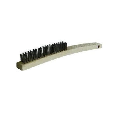 4 ROW WIRE BRUSH CARBON STEEL-WOOD HANDLE