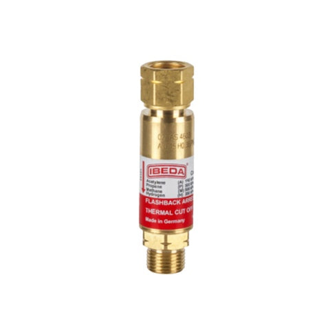 Ibeda Flashback Arrestor Regulator End -Fuel