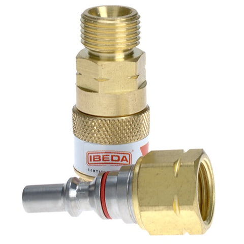 Ibeda Quick Action Couplings Torch End - Fuel