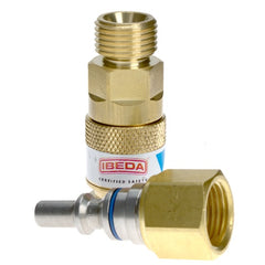 Ibeda Quick Action Couplings Torch End - Oxygen