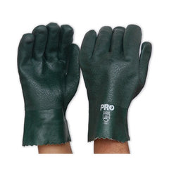 PVC-GREEN PVC GLOVE - SHORT