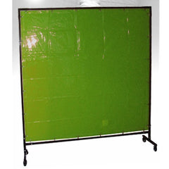 GREEN WELDING CURTAIN WITH FRAME