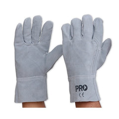 WORK GLOVES-GREY LEATHER GLOVE