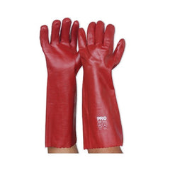 PVC-RED PVC GLOVE - LONG