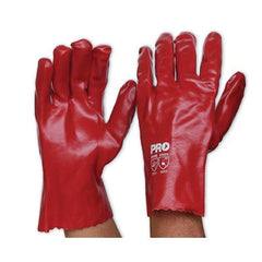 PVC-RED PVC GLOVE - SHORT