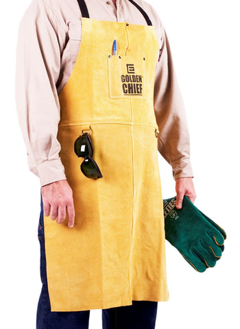 ELLIOTTS GOLDEN CHIEF Premium Leather Welding Apron