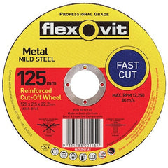 FLEXOVIT GENERAL PURPOSE CUT OFF WHEELS 125mm