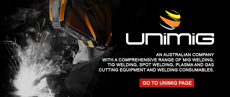 Unimig - the most comprehensive ranges of MIG Welders, TIG Welders, Welding Automation, Plasma and gas cutting equipment.