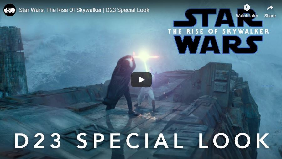 D23 The Rise of Skywalker Released footage! This is going to be awesome!