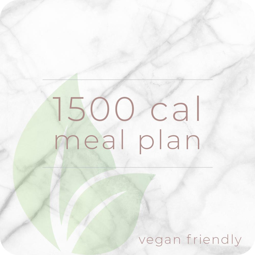 1500 Calorie Vegan Meal Plan