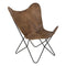 Butterfly Chair - Bruin Leer - Light & Living
