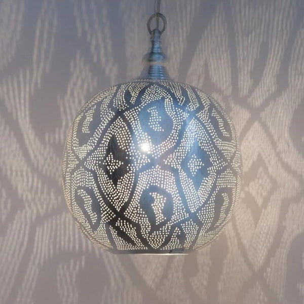 Hanglamp - Ball Filigrain Zilver Medium - Zenza