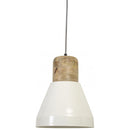Hanglamp - Issey - Hout naturel, Wit - Light & Living
