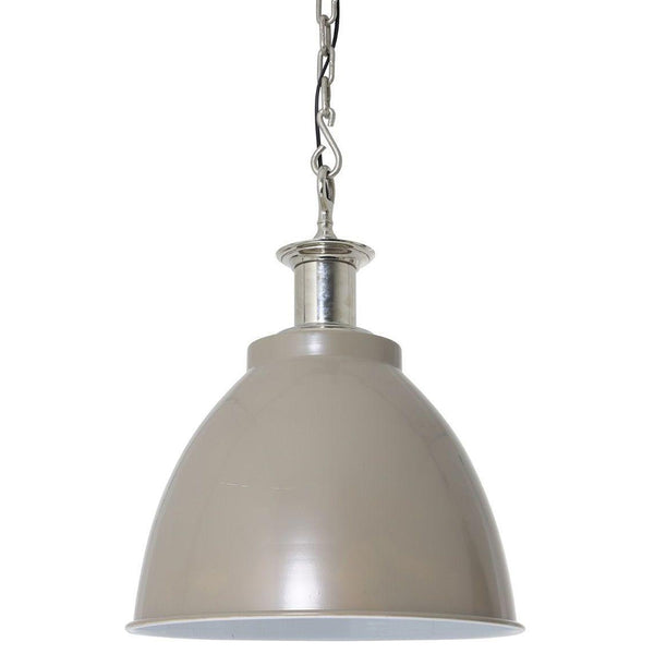 Hanglamp - Beau - Nikkel kop Grijs, Wit - Light & Living