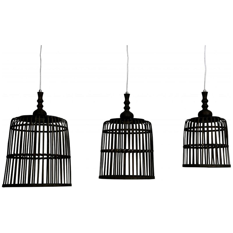 Hanglamp - Malakka - 3 Lights - Zwart - Light & Living