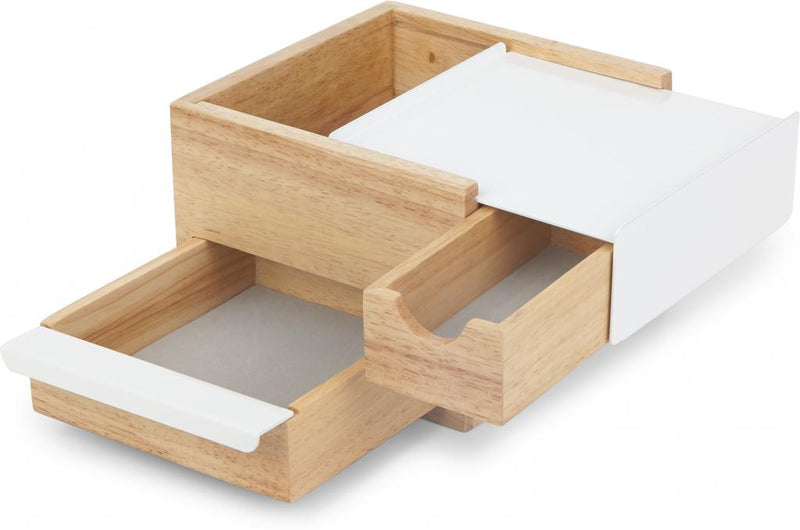Juwelenbox Stowit Mini - naturel/wit - 17x15x11cm - Umbra