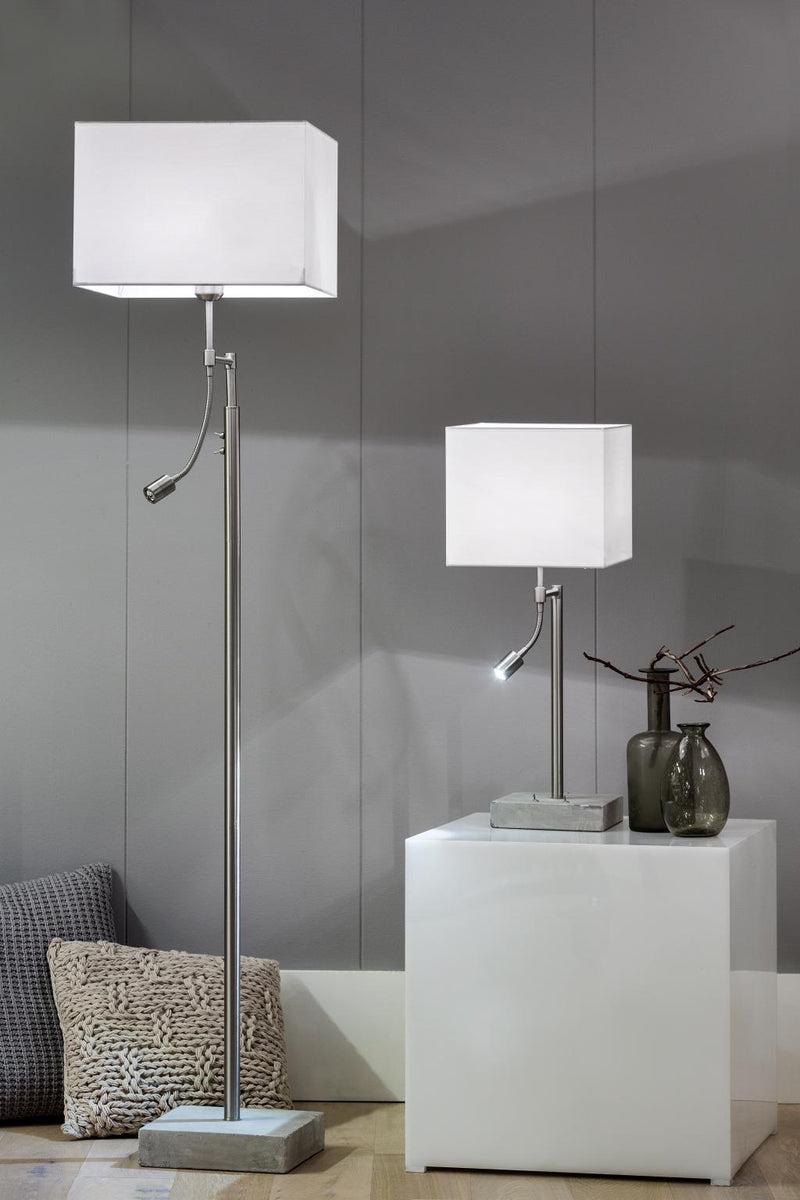 Vloerlamp - Essen - 2 Lights - Grijs - Light & Living