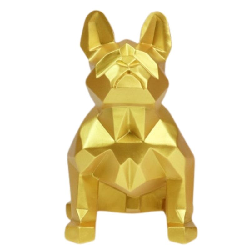 Statue Bouledogue Origami Or