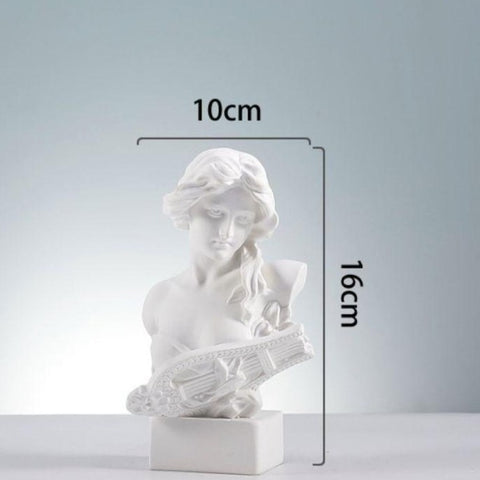 Taille statue femme blanche