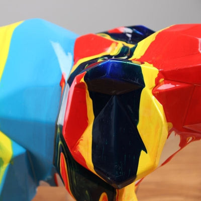Zoom statue elephant origami multicolor