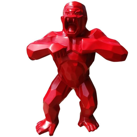 Statue Origami King Kong Rouge