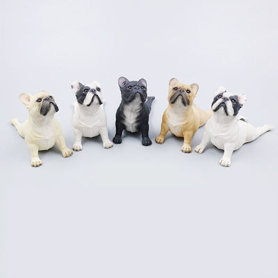statues chiens bouledogues