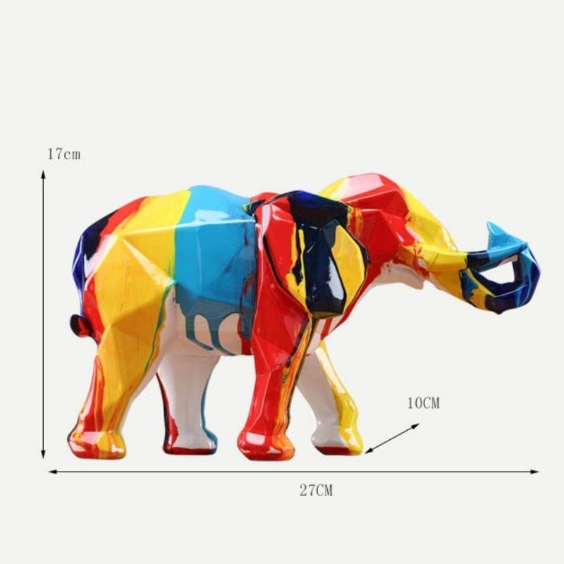 Statue resine elephant dimensions