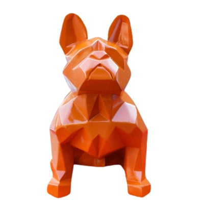 Statue Bouledogue Origami Orange