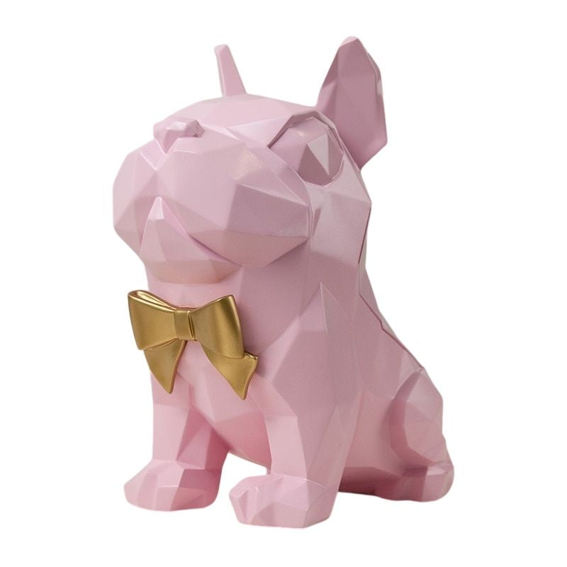 Statue Bouledogue Français Rose