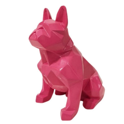 Statue Bouledogue Origami Rose