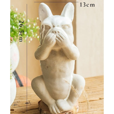 Taille statue chien