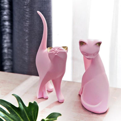 Statue Chat Couleur