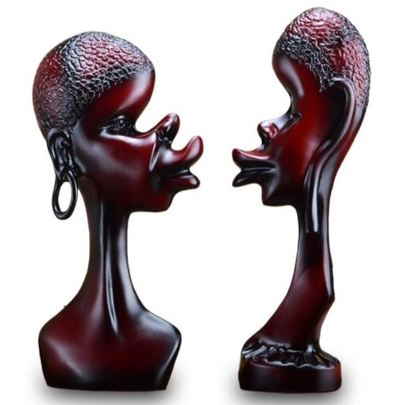 Statue Couple Africain