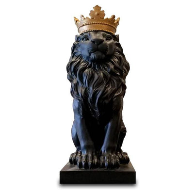 Statue Lion Couronne