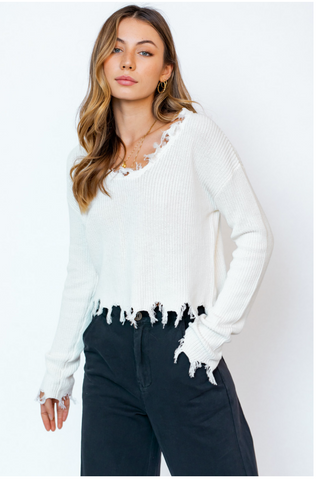 The Kaylee Sweater - White