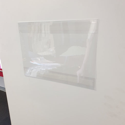 A3 Sign Holder Clear Sleeve with Adhesive Strips POC2-Adhesive Pockets-Hang and Display