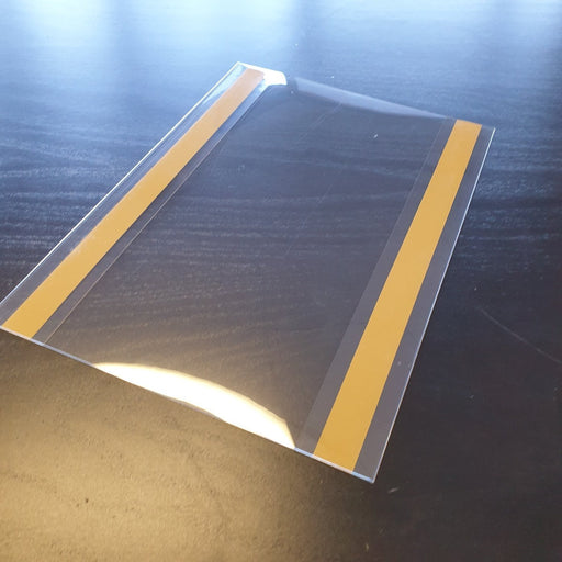 A6 Sign Holder Clear Sleeve with Adhesive Strips POC2-Adhesive Pockets-Hang and Display