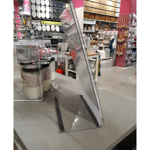 Acrylic Shelf Sign Display Bookend Style with Magnets Custom Sizes-Leaflet Holders-Hang and Display
