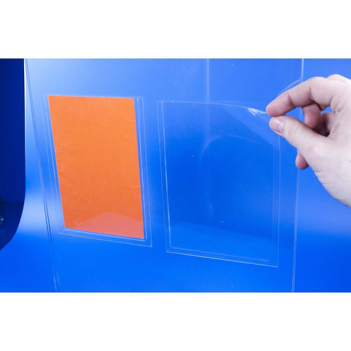 Adhesive Backed Clear PVC Pockets and Sleeves POC1-ADH-Adhesive Pockets-Hang and Display